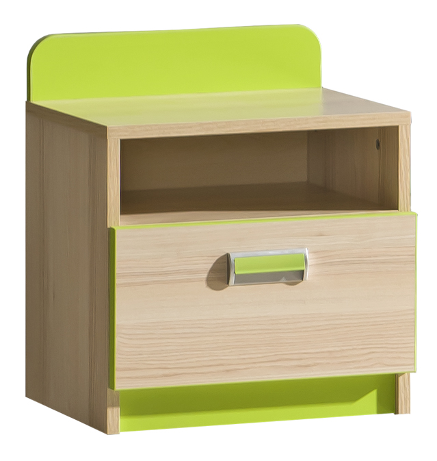 Dolmar Nočný stolík Lorento L12 Farba: Jaseň coimbra / zelená