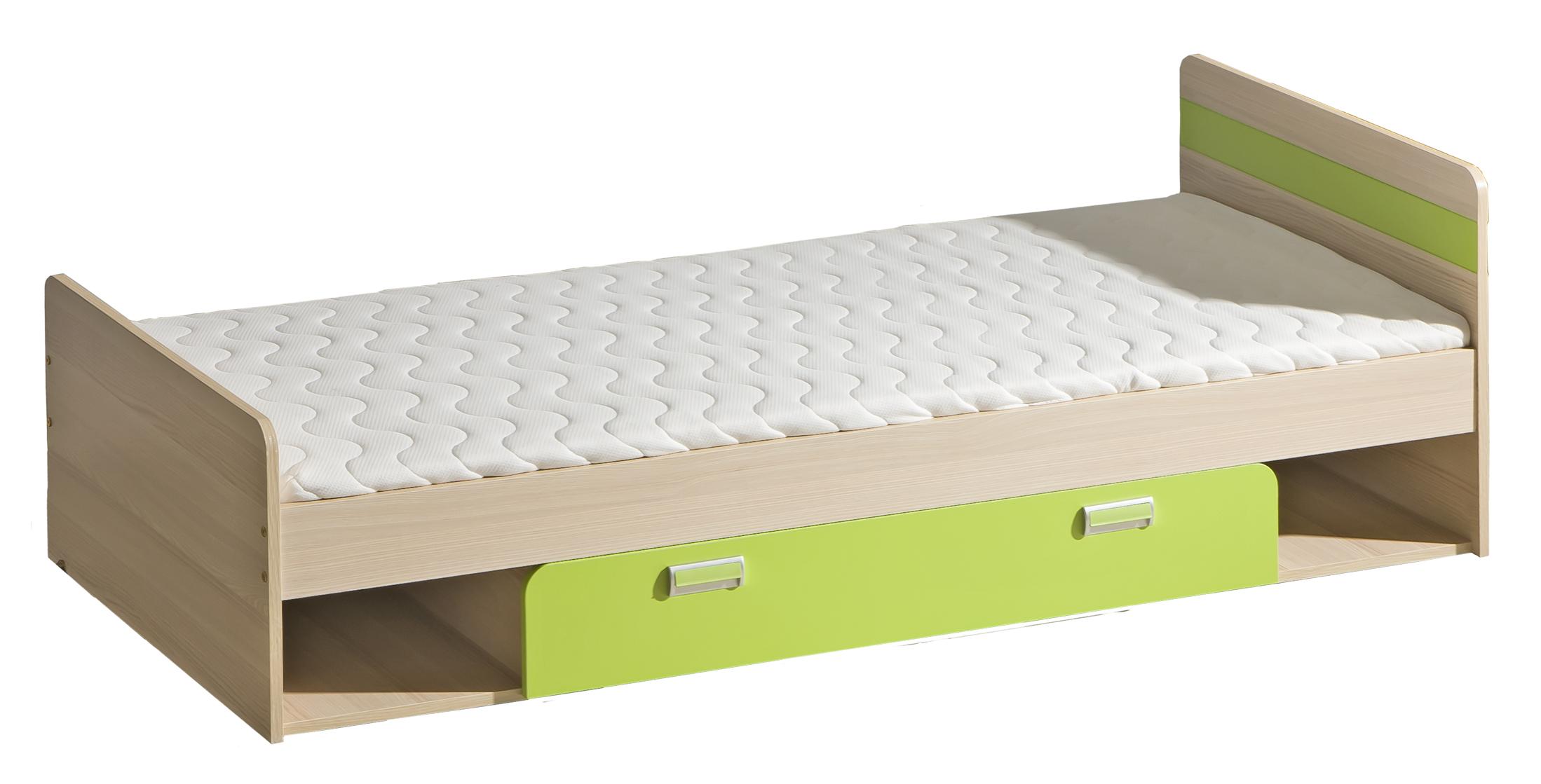 Dolmar Detská posteľ Lorento L13 Farba: Jaseň coimbra / zelená