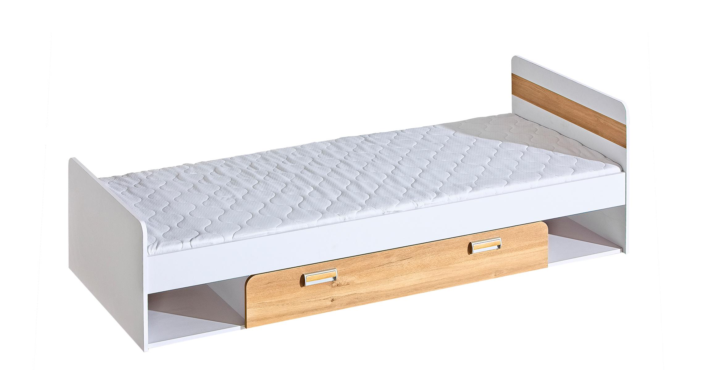 Dolmar Detská posteľ Lorento L13 Farba: Biely briliant / dub nash