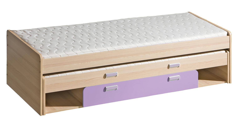 Dolmar Detská posteľ Lorento L16 Farba: Jaseň coimbra / fialová