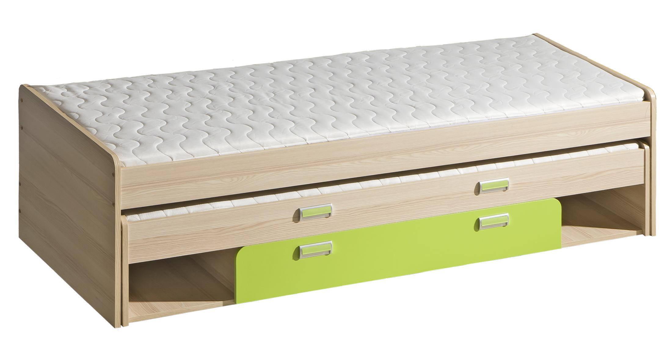 Dolmar Detská posteľ Lorento L16 Farba: Jaseň coimbra / zelená