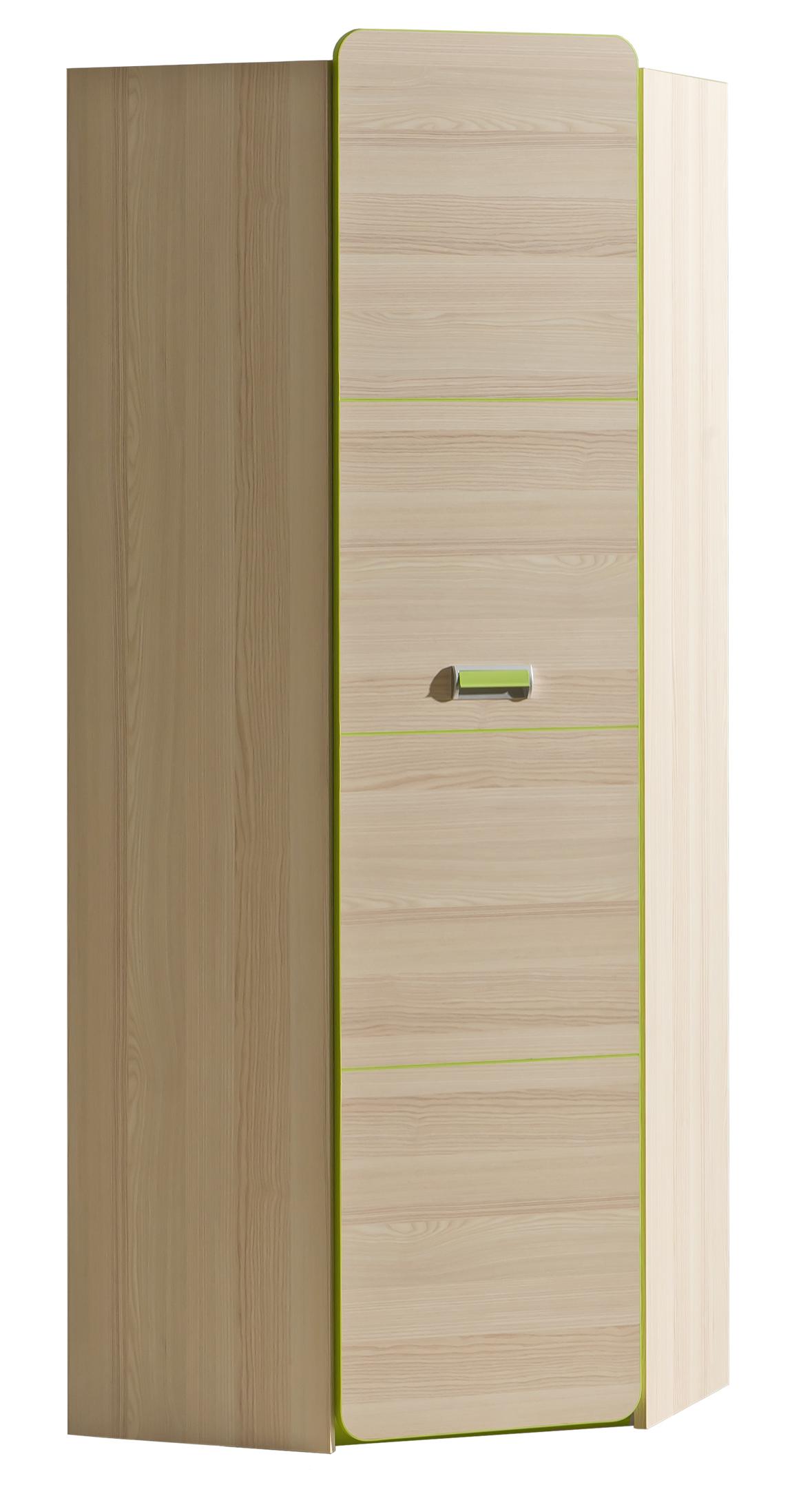 Dolmar Rohová skriňa Lorento L14 Farba: Jaseň coimbra / zelená