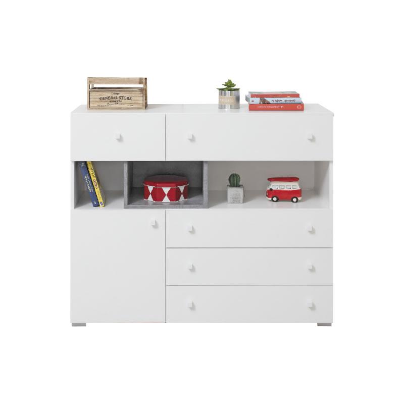Meblar Komoda Sigma SI12 Farba: biela/beton