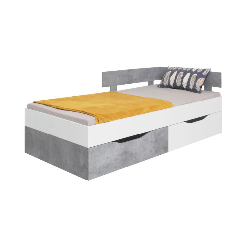 Meblar Posteľ Sigma SI15 Farba: biela/beton
