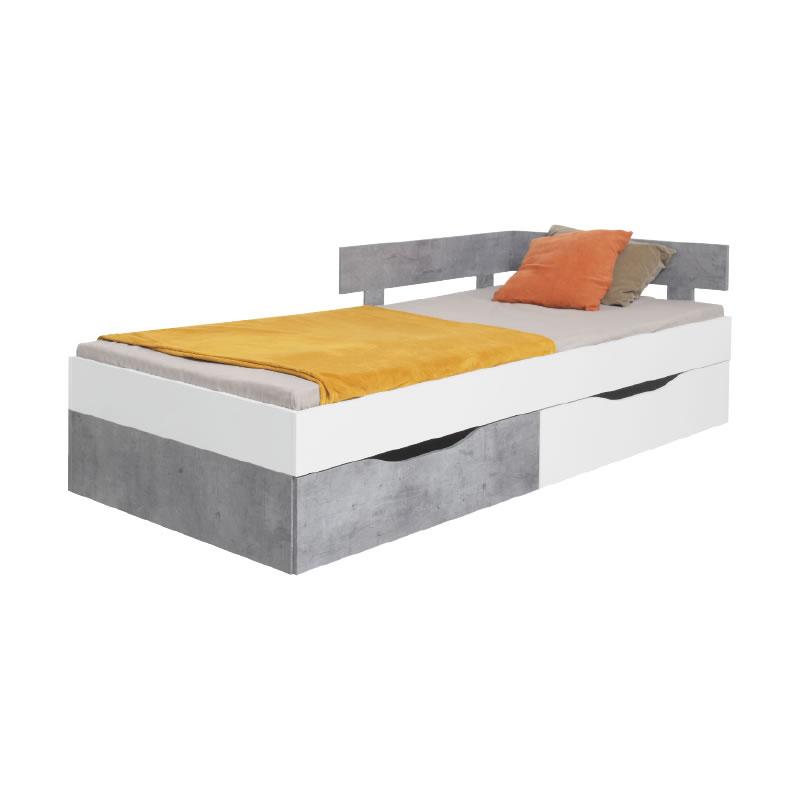 Meblar Posteľ Sigma SI16 Farba: biela/beton