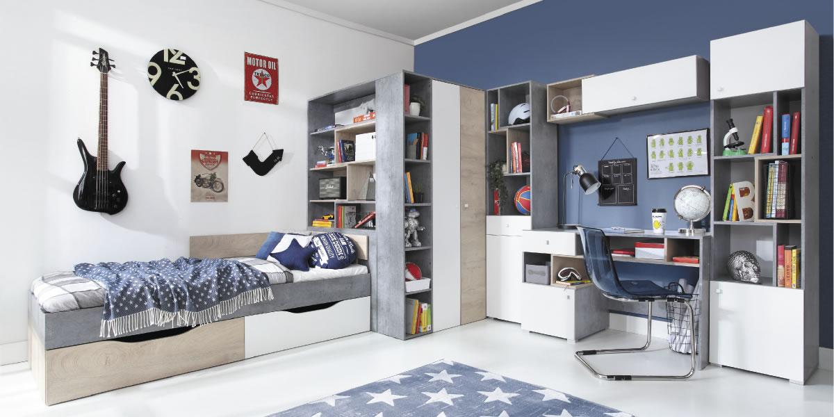 Meblar Detská izba Sigma A Farba: biela/beton