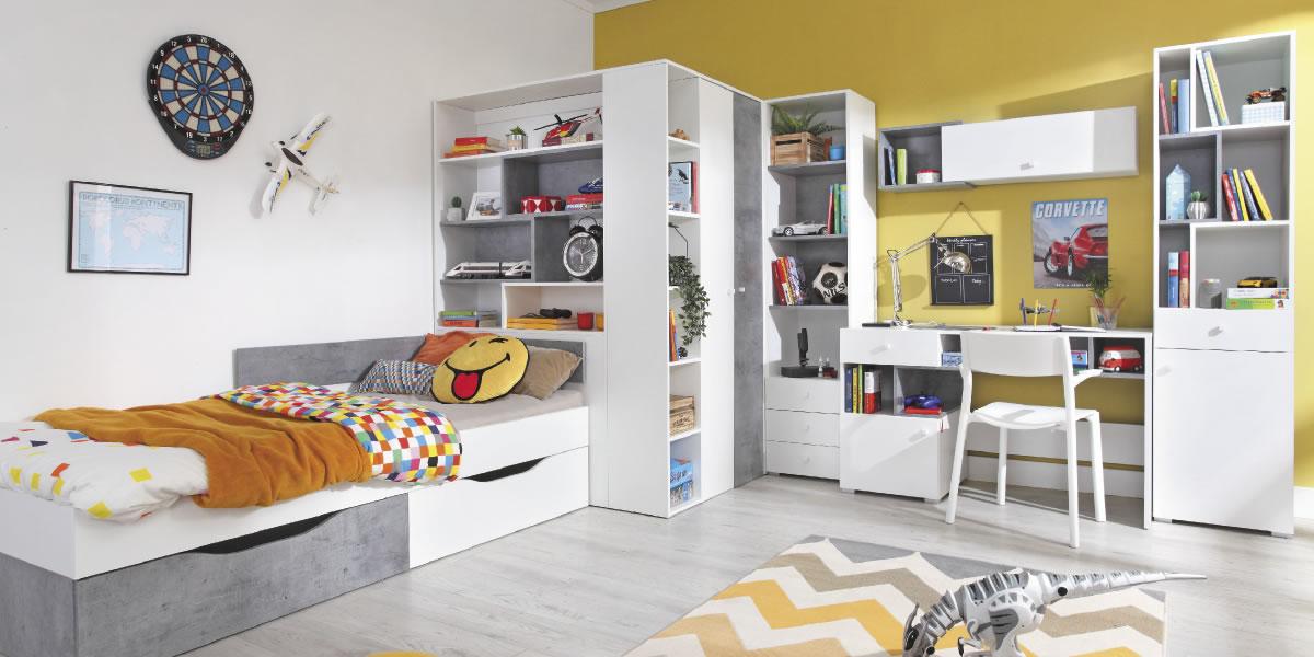 Meblar Detská izba Sigma C Farba: biela/beton