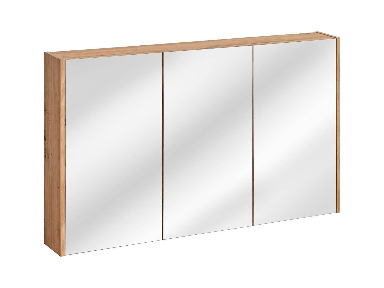 ArtCom Kúpeľňová zostava MADERA Madera Grey: Horná zrkadlová skrinka 843 - 120 cm