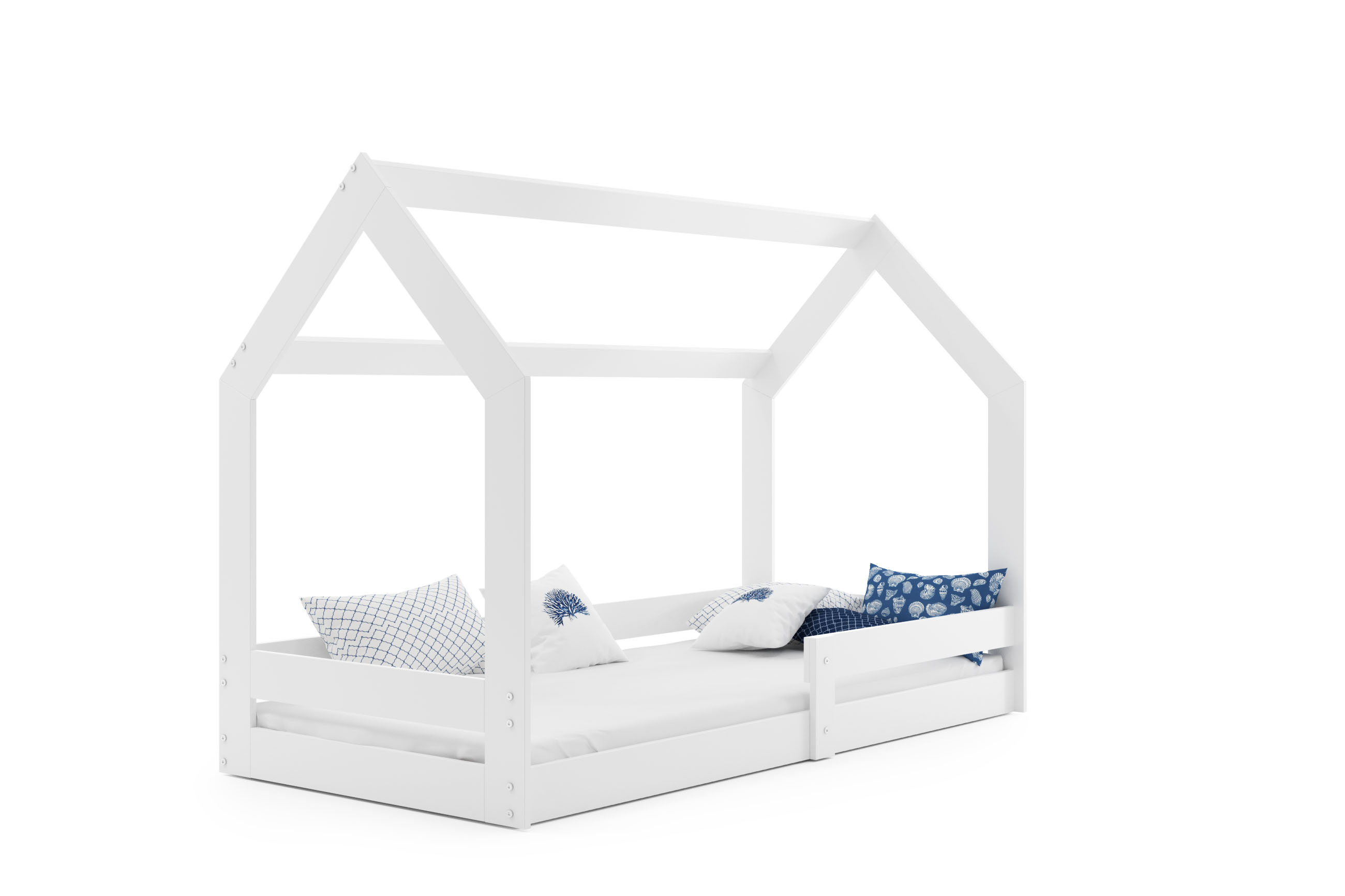 BMS Detská posteľ DOMČEK 1 DOMEK: Biela