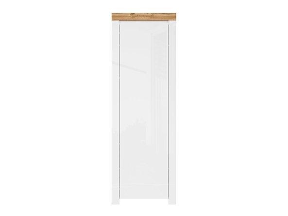 BRW Skriňa: HOLTEN - REG1D/200 Farba: biela/dub wotan/biely lesk