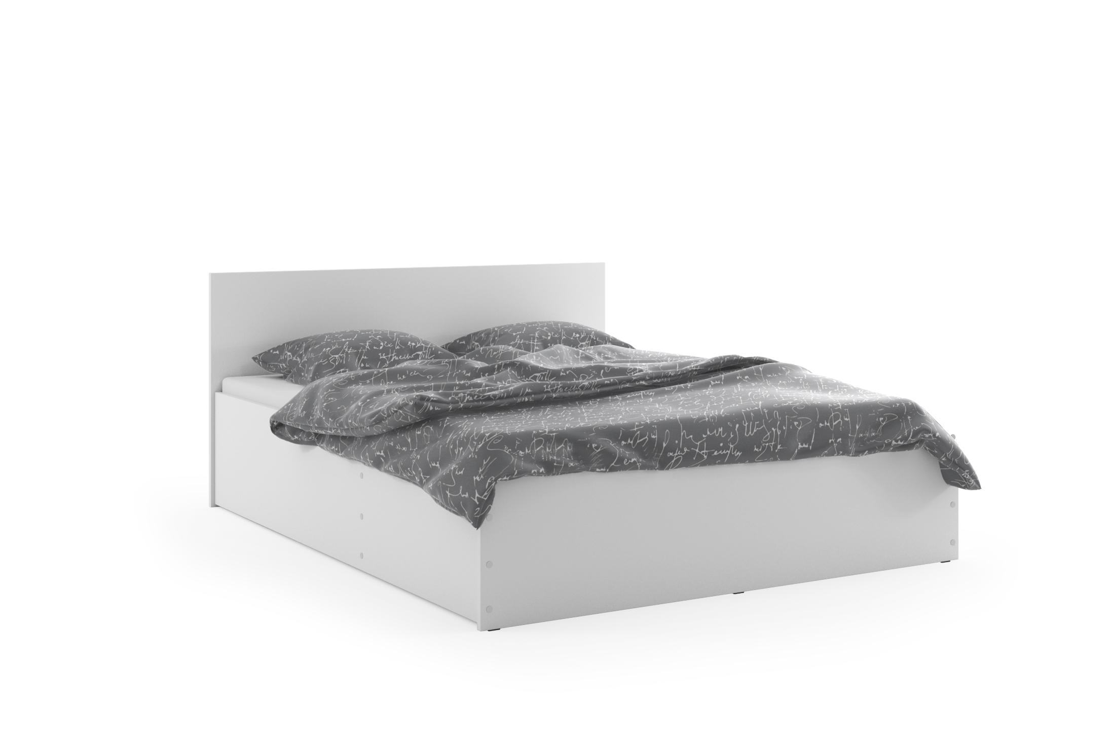 BMS Posteľ PANAMAX 160 | matrac + rošt Prevedenie: Biela