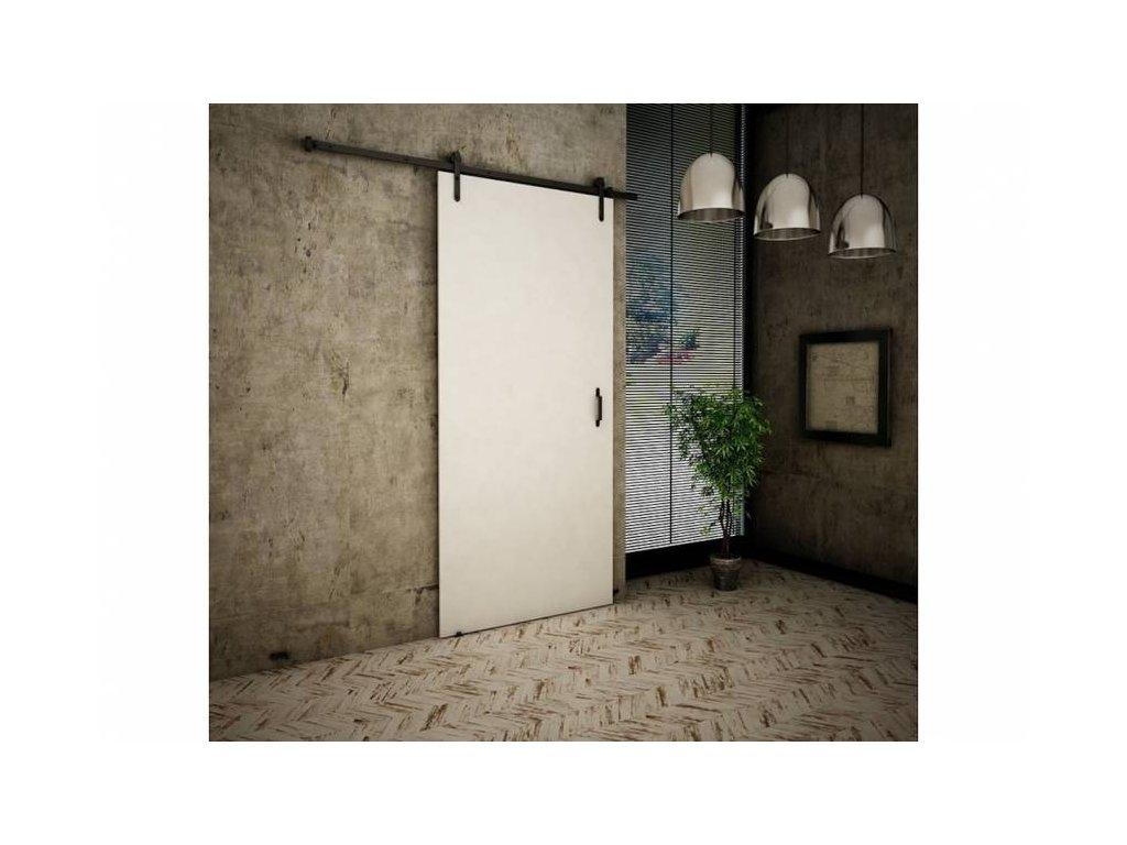 KIER Posuvné dvere RETRO Farba: Biela, Prevedenie: A