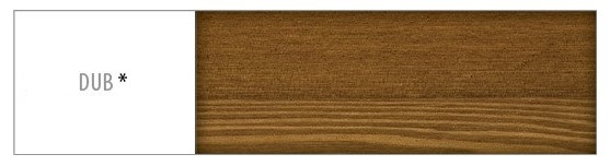 Drewmax Stôl - masív ST103 | 120cm borovica Morenie: Dub