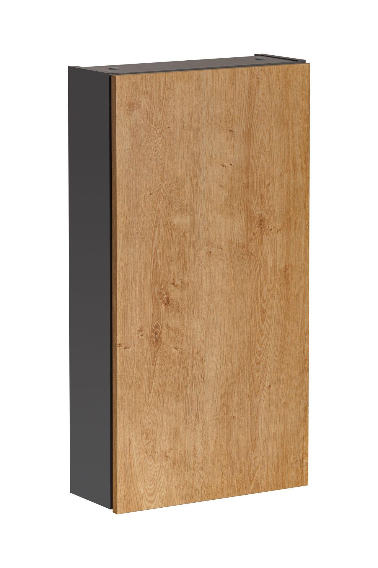 ArtCom Kúpeľňová zostava MONAKO Grey Oak Monako: Závesná skrinka 830 - 75 x 40 x 15,6 cm