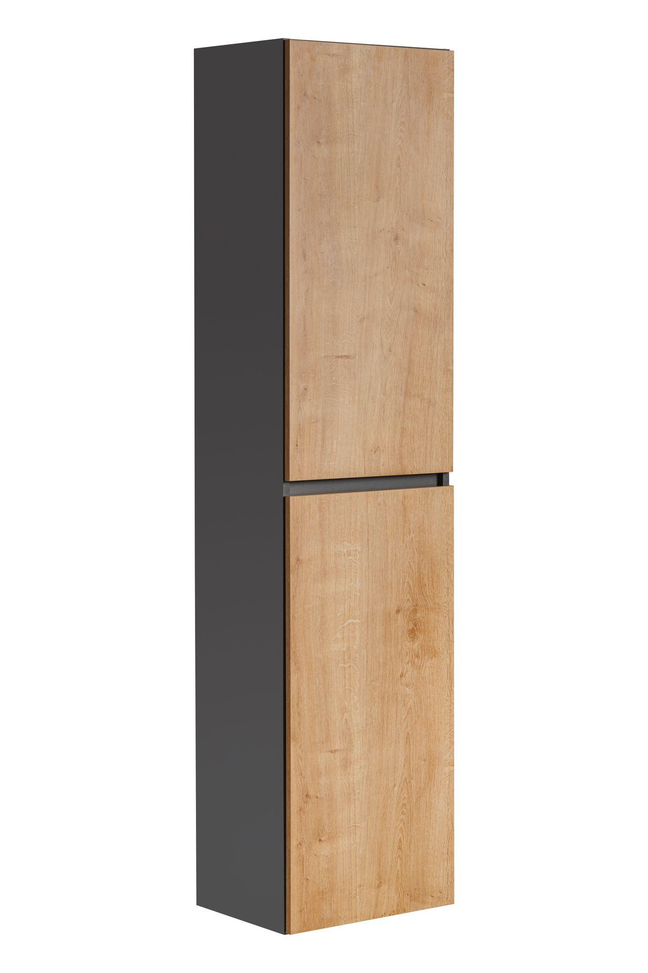 ArtCom Kúpeľňová zostava Monako Grey Oak Monako: Vysoká skrinka Monako 800 - 170 x 40 x 33 cm