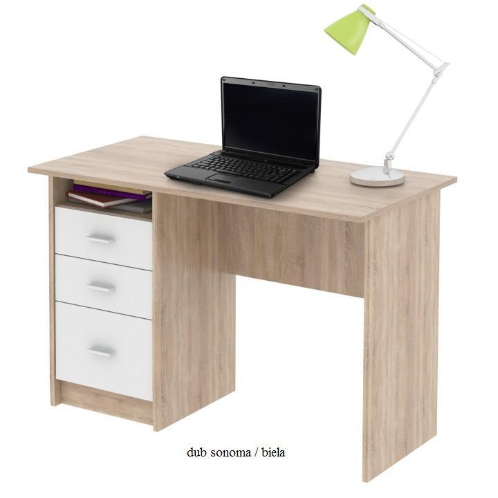 Tempo Kondela PC stôl SAMSON NEW SAMSON: Pc stôl SAMSON / dub sonoma / biela