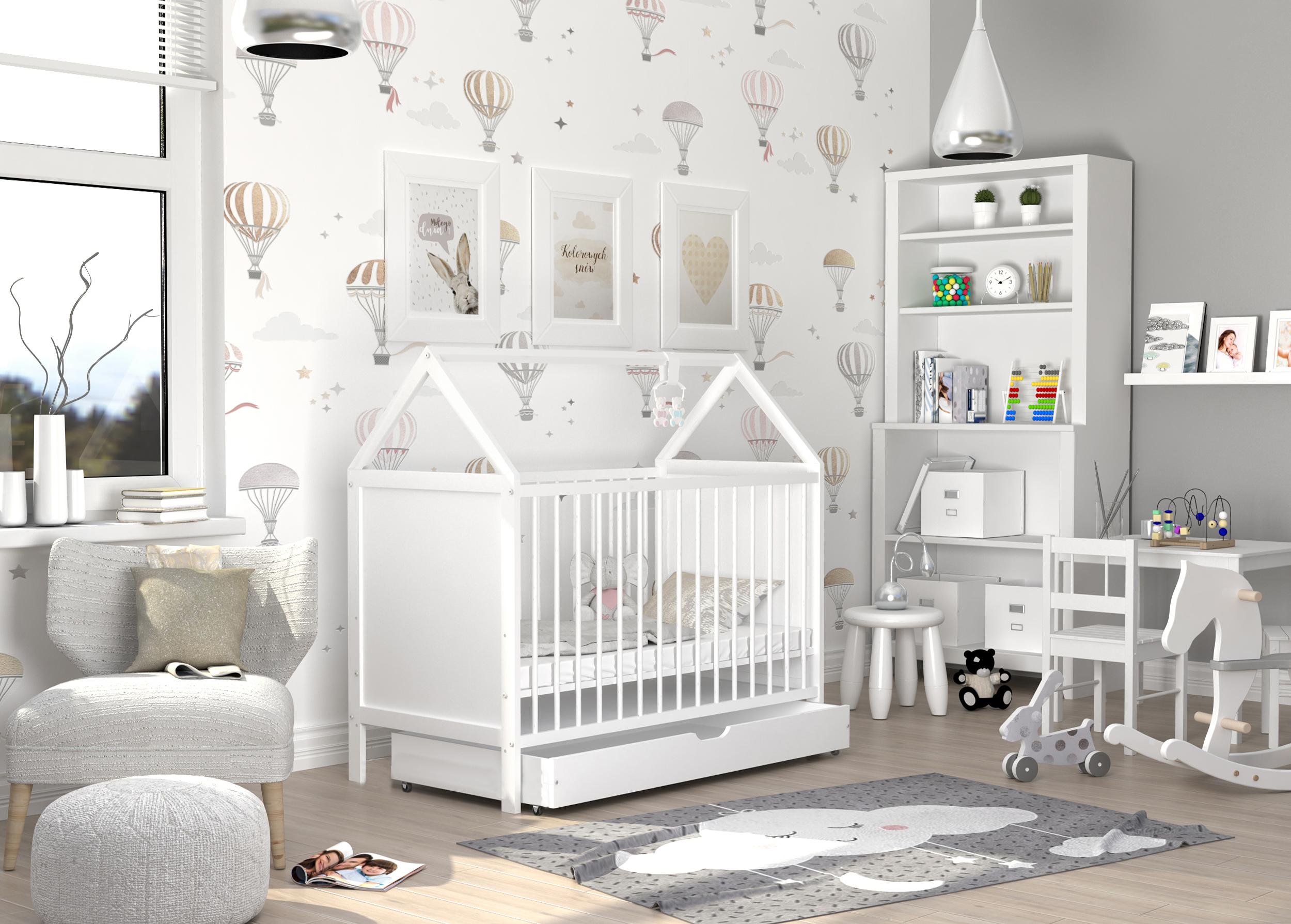 ArtAJ Detská postieľka ANIA Prevedenie Ania: biela/biela + zásuvka