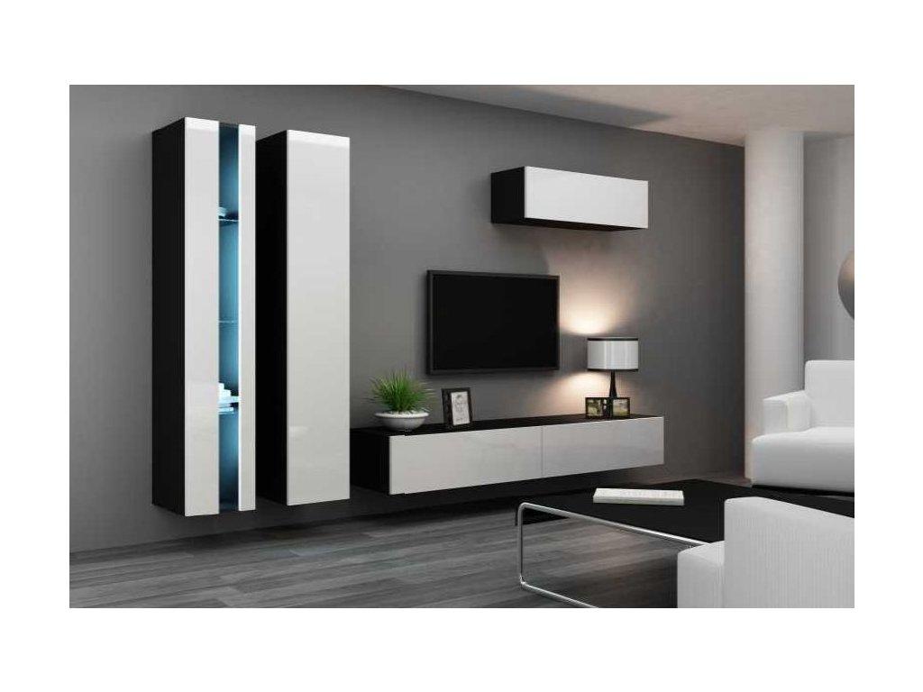 Artcam Obývacia stena Vigo I new Farba: čierna/biely lesk