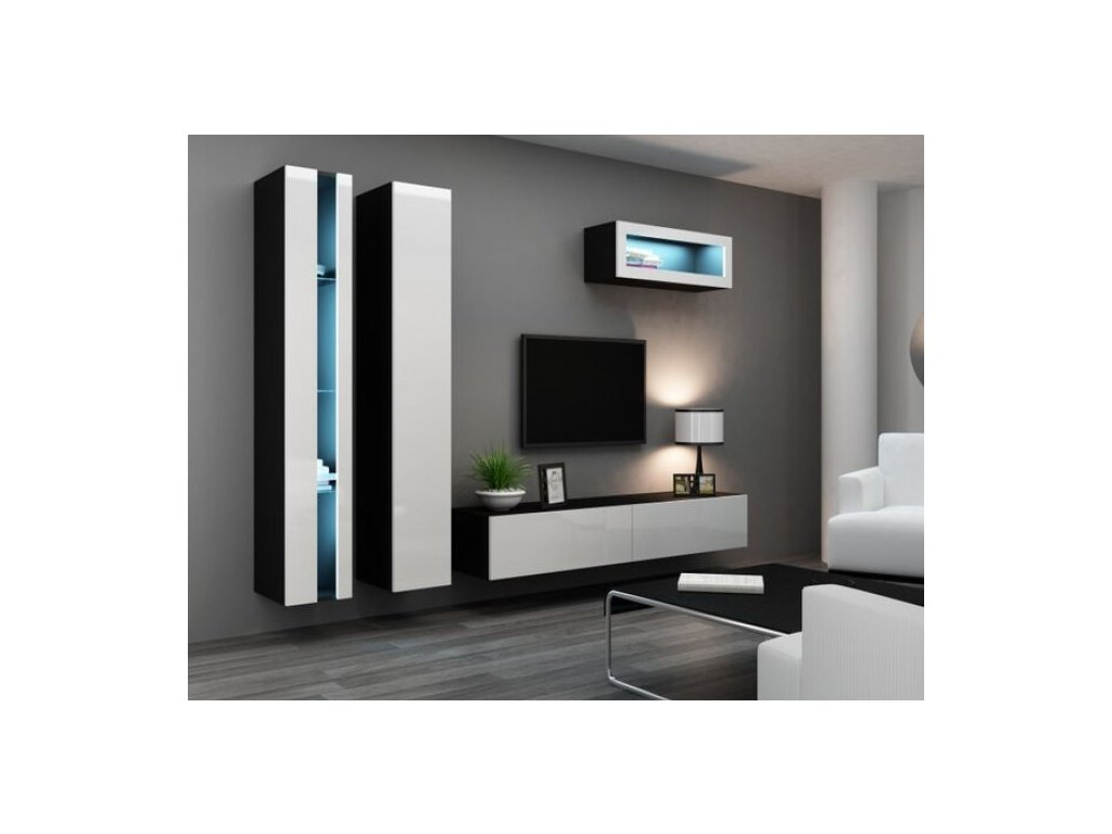 Artcam Obývacia stena Vigo II new Farba: čierna/biely lesk