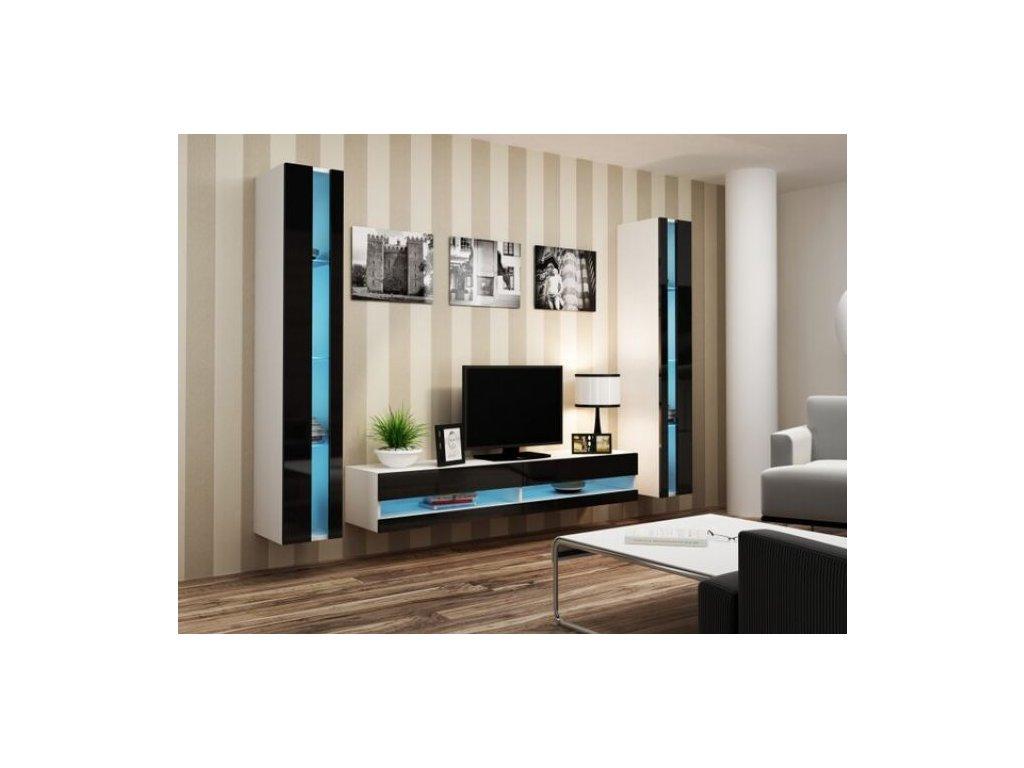 Artcam Obývacia stena Vigo III new Farba: biela/čierny lesk