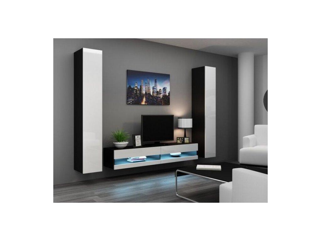 Artcam Obývacia stena Vigo IV new Farba: čierna/biely lesk