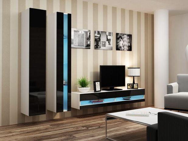 Artcam Obývacia stena Vigo V new biela-čierna