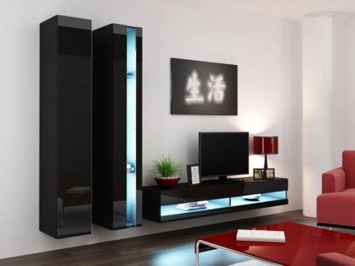Artcam Obývacia stena Vigo V new čierna-čierna