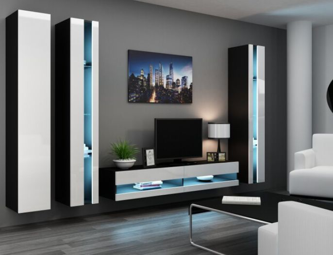 Artcam Obývacia stena Vigo VI new čierna-biela