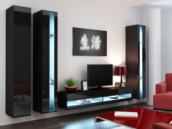 Artcam Obývacia stena Vigo VI new čierna-čierna