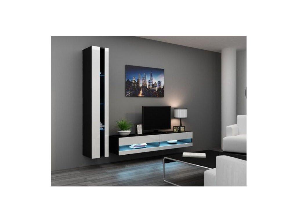 Artcam Obývacia stena Vigo VIII new Farba: čierna/biely lesk