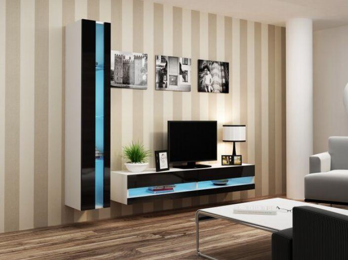 Artcam Obývacia stena Vigo VIII new biela-čierna