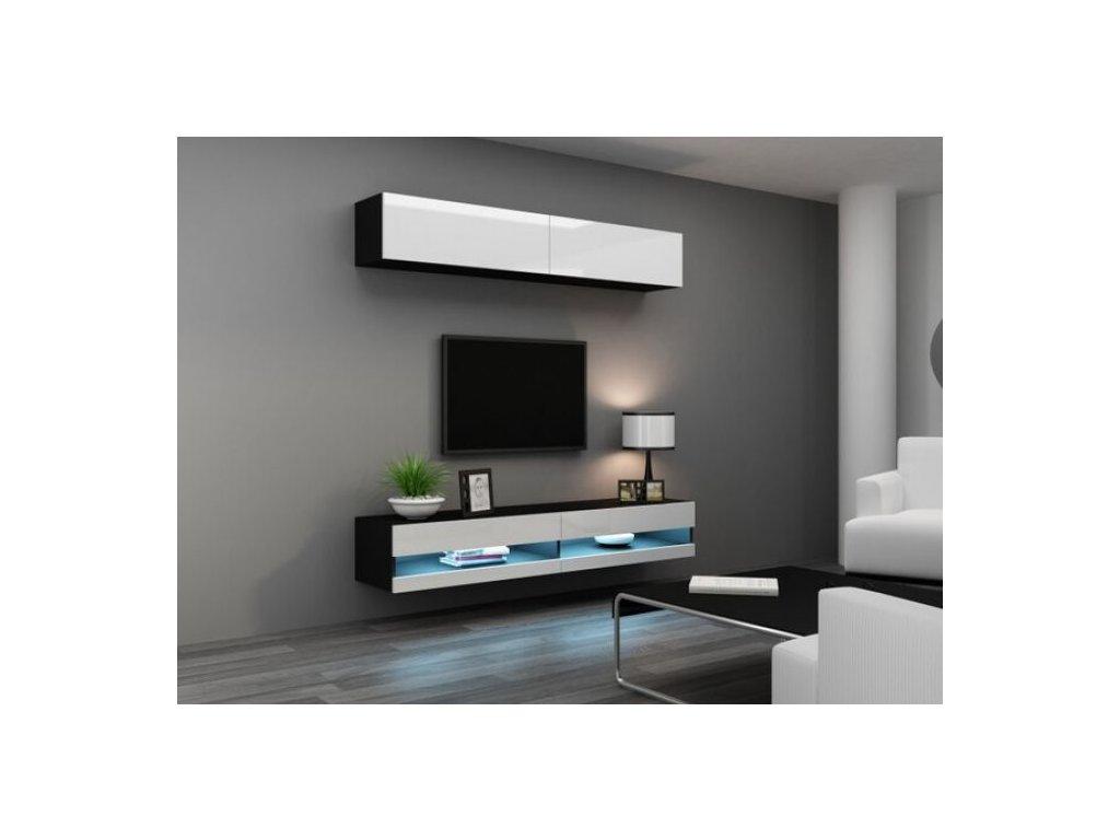 Artcam Obývacia stena Vigo X new Farba: čierna/biely lesk