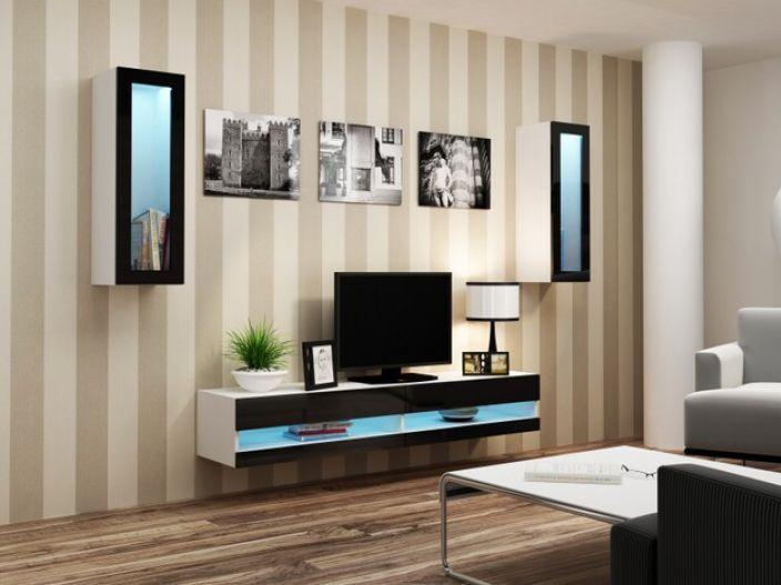 Artcam Obývacia stena Vigo XI new biela-čierna