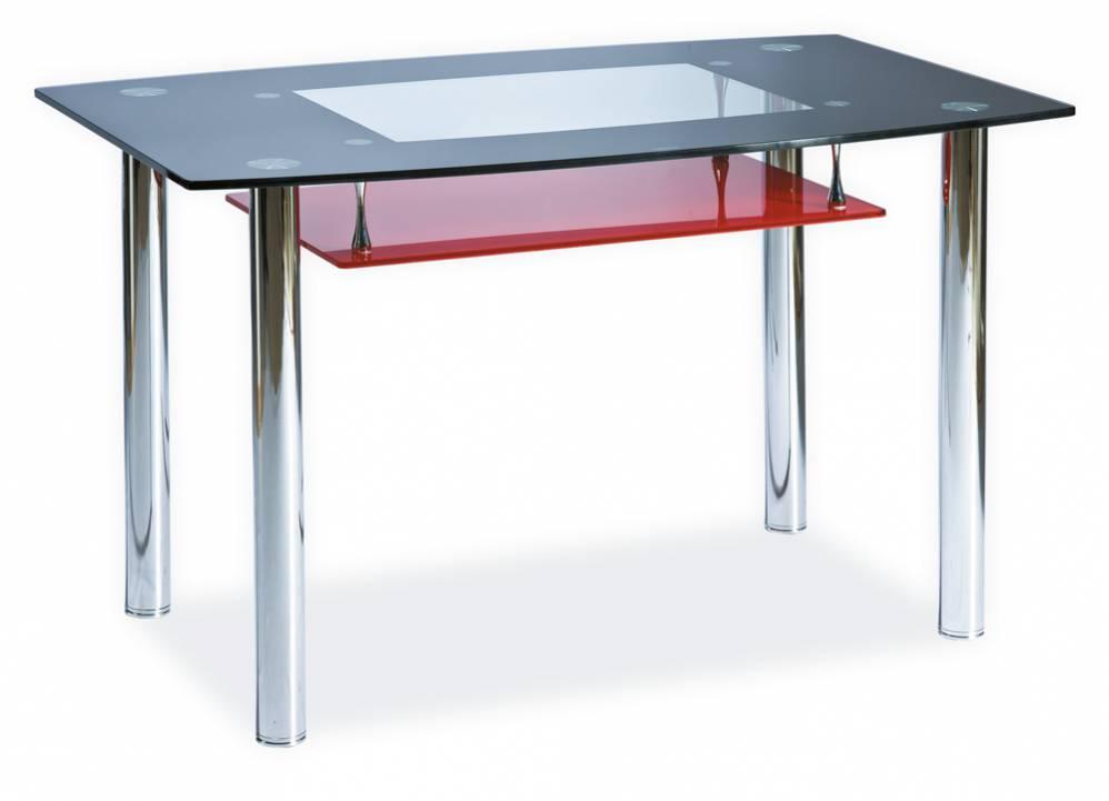 Signal Jedálenský stôl TWIST A červený