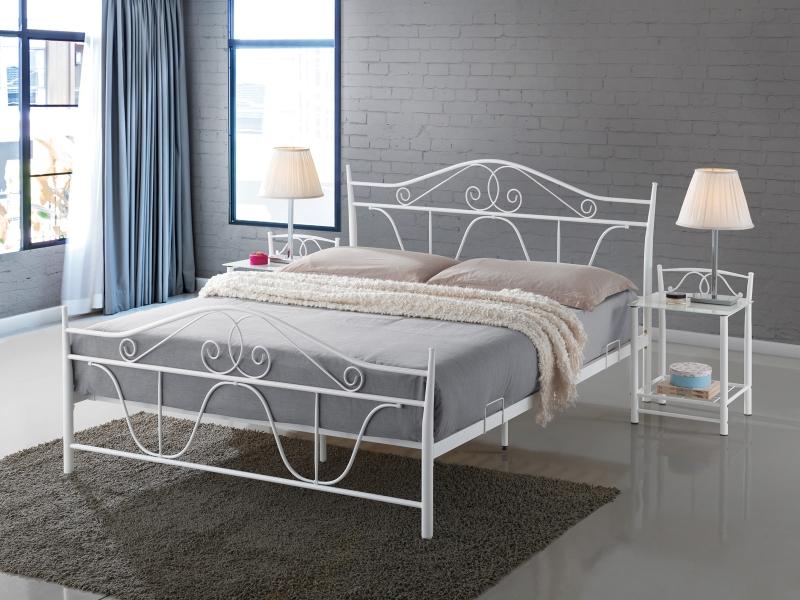 Signal Manželská posteľ DENVER Farba: Biela