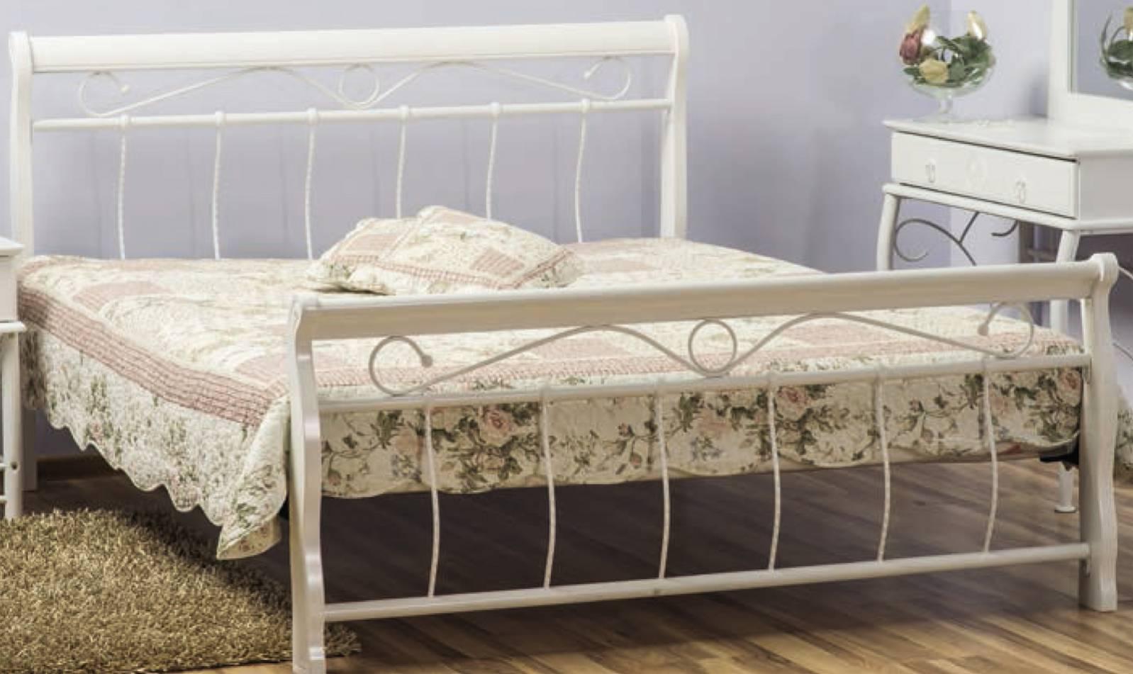 Signal Manželská posteľ VENECJA biela 160x200