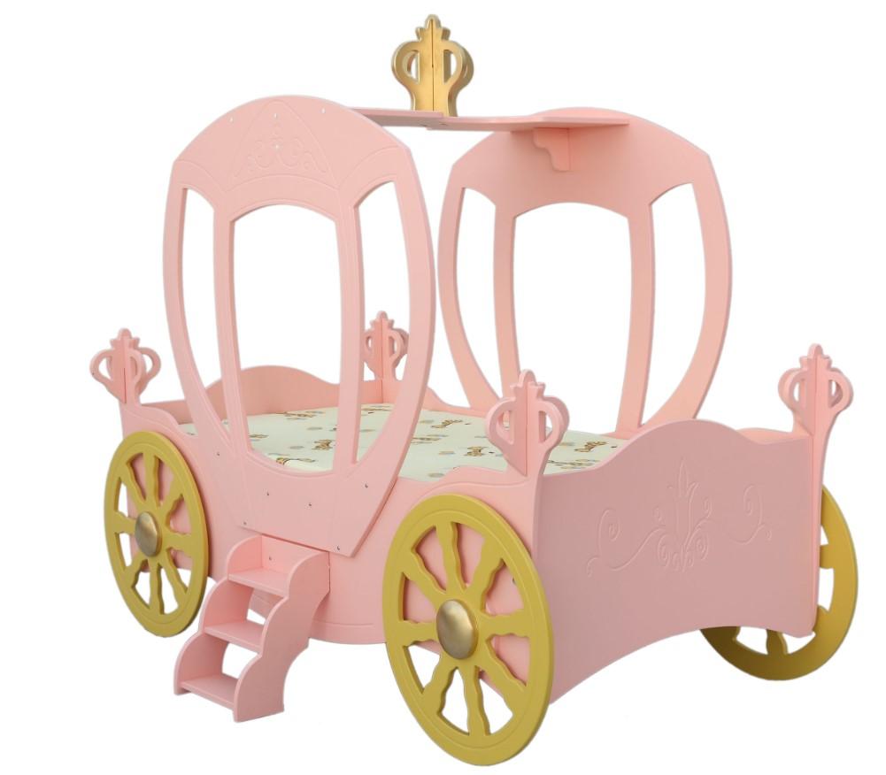 Artplast Detská posteľ Koč pre princeznú Farba: Ružová