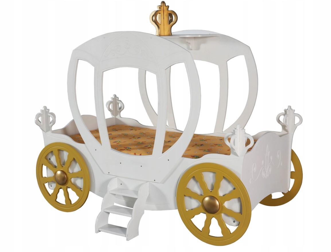 Artplast Detská posteľ Koč pre princeznú Farba: Biela
