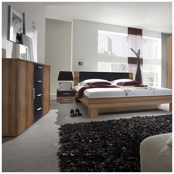 Manželská posteľ Vera Farba: orech červený / čierna, Prevedenie: 180 x 200 cm
