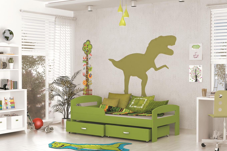 ArtAJ Detská posteľ GRZES 160x80 farebné prevedenie: zelená s matracom