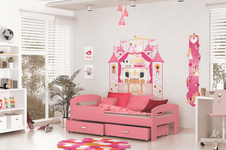 ArtAJ Detská posteľ GRZES 160x80 farebné prevedenie: ružová s matracom