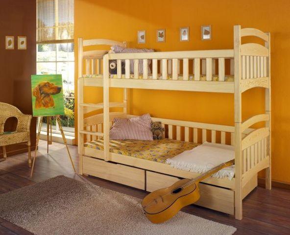 ArtBed Detská poschodová posteľ Dominik Prevedenie: Borovica prírodná