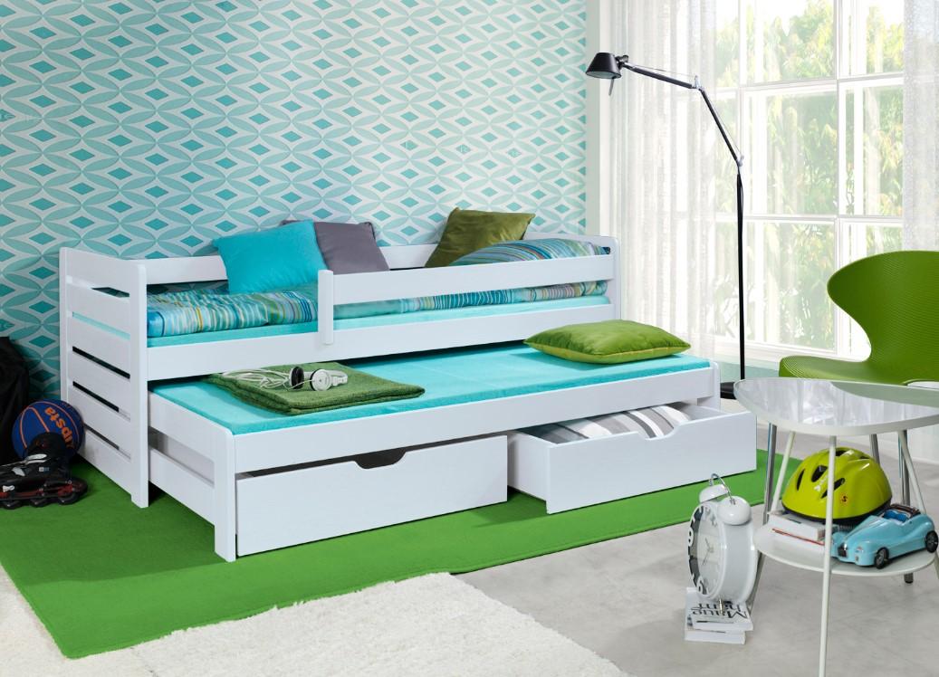Detská posteľ s prístelkou Tomasz II Prevedenie: Borovica prírodná