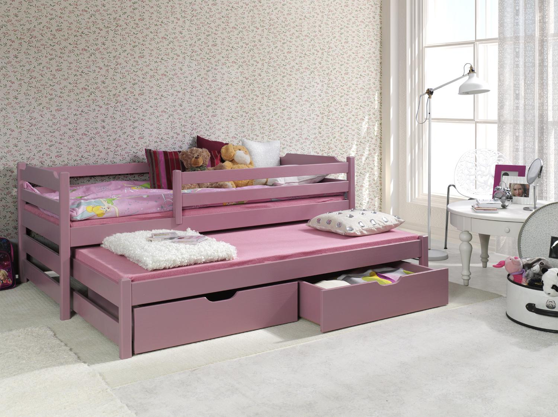 ArtBed Detská posteľ s prístelkou Marcin II Prevedenie: Borovica prírodná
