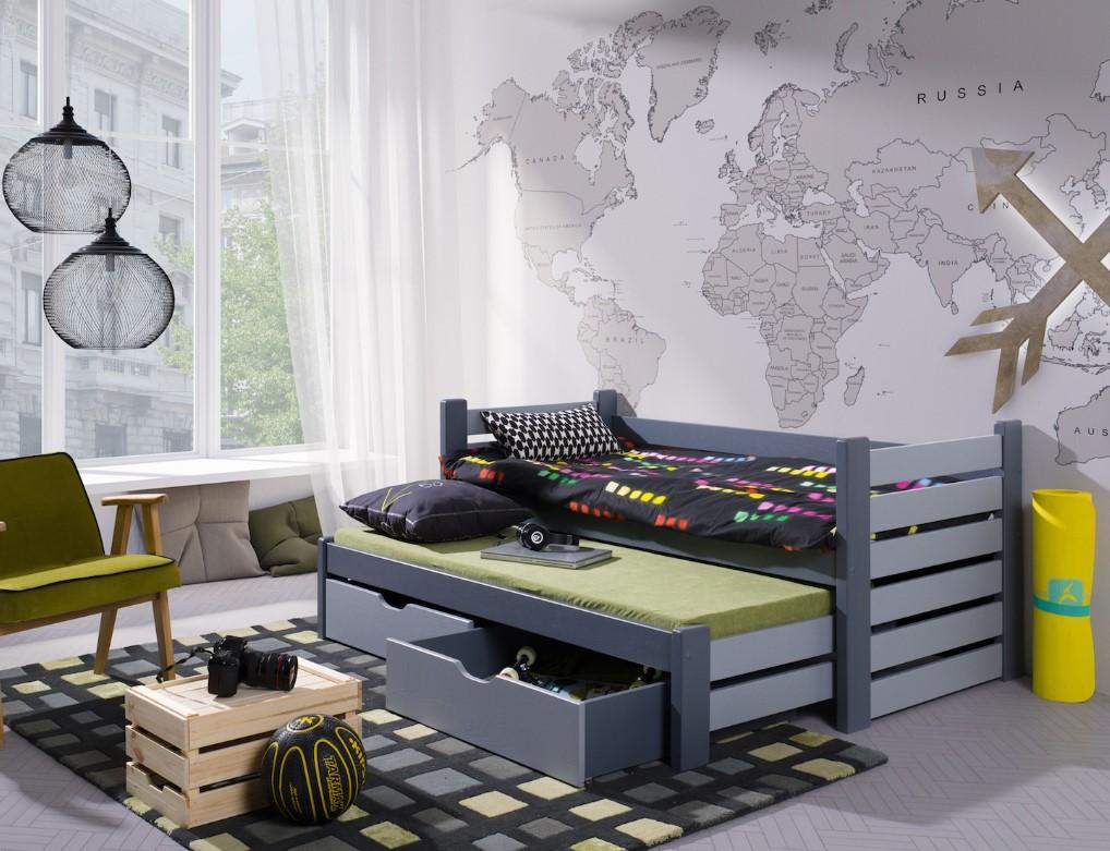 ArtBed Detská posteľ s prístelkou Mateusz Prevedenie: Borovica prírodná