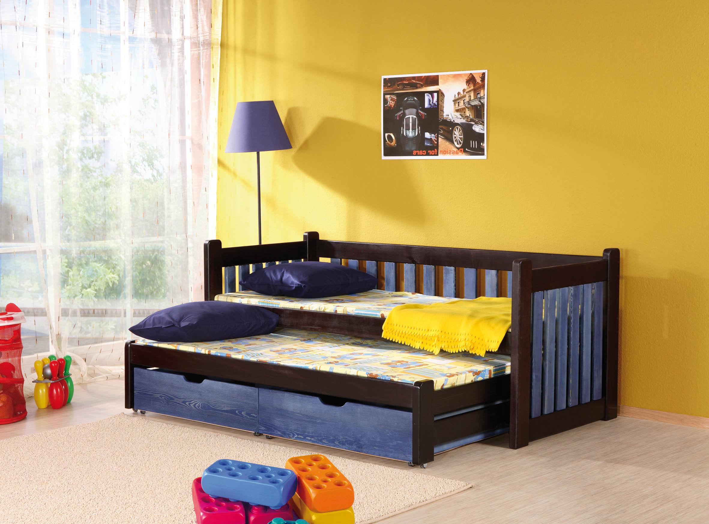 ArtBed Detská posteľ s prístelkou Filip Prevedenie: Borovica prírodná