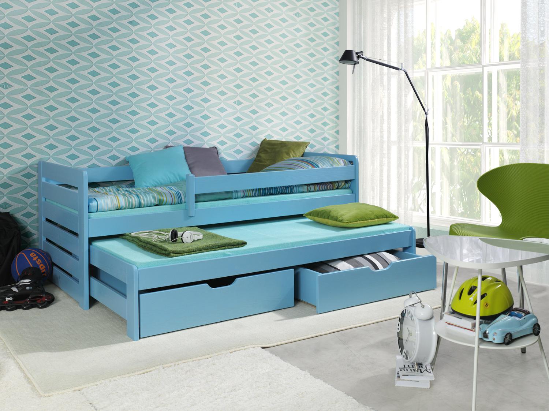 Detská posteľ s prístelkou Tomasz Prevedenie: Borovica prírodná