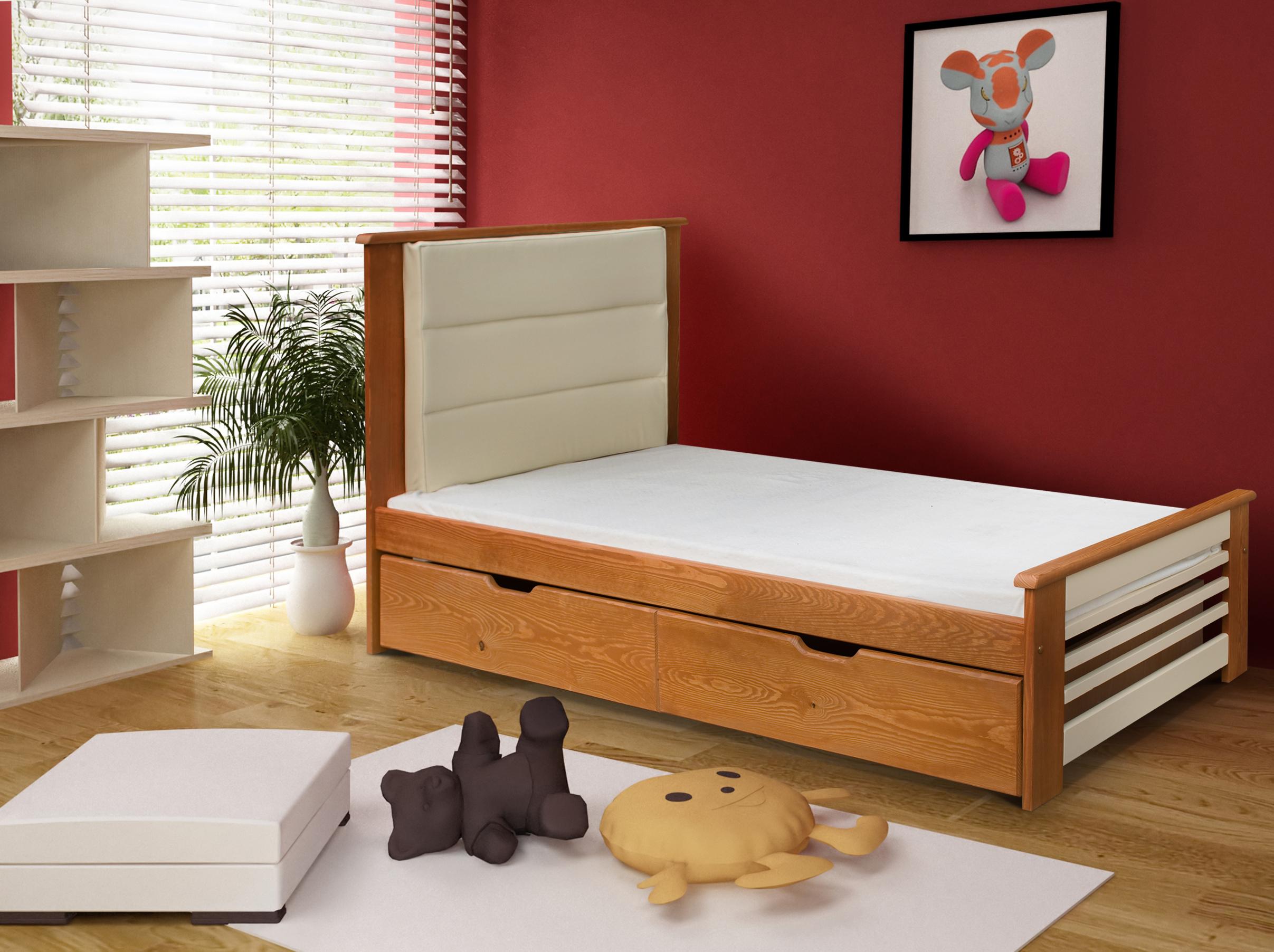 ArtBed Detská posteľ Amelia / 190x87x80 Prevedenie: Borovica prírodná
