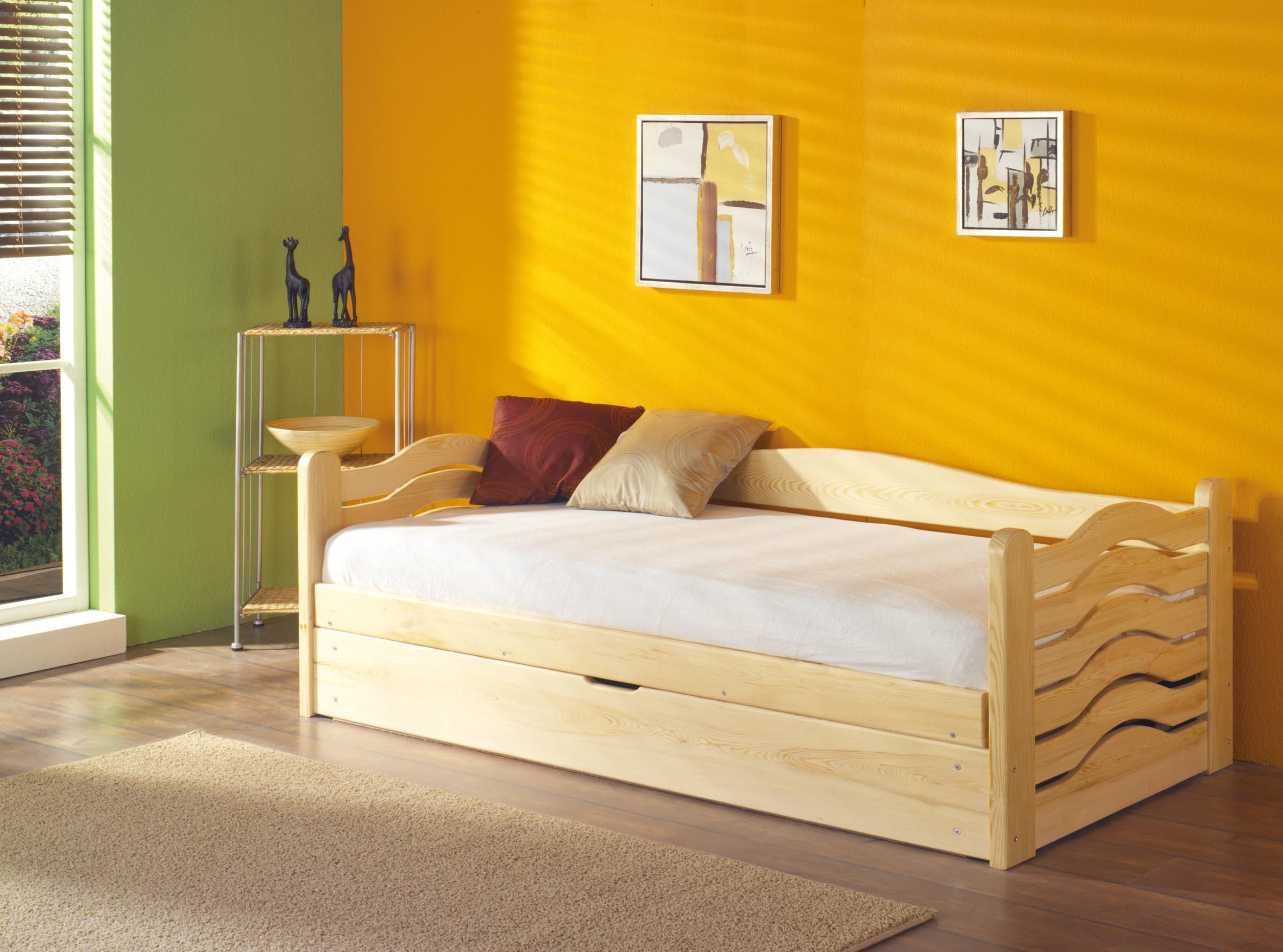 ArtBed Detská posteľ Olga / 190x87x60 cm Prevedenie: Borovica prírodná