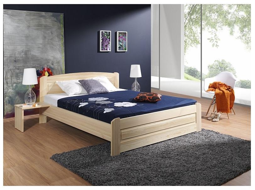 ArtBed Manželská posteľ Bazyl Farba: prírodná, Rozmer postele: 180 x 200